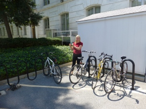 The Extra Bike Rack at the Red Cross Square